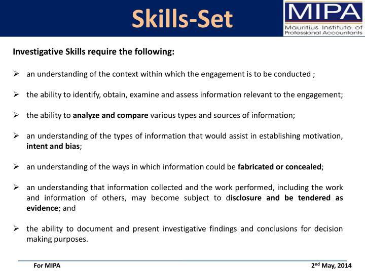 Skills-Set