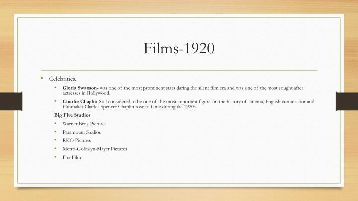 Films-1920