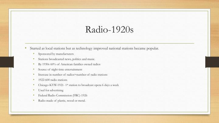 Radio-1920s