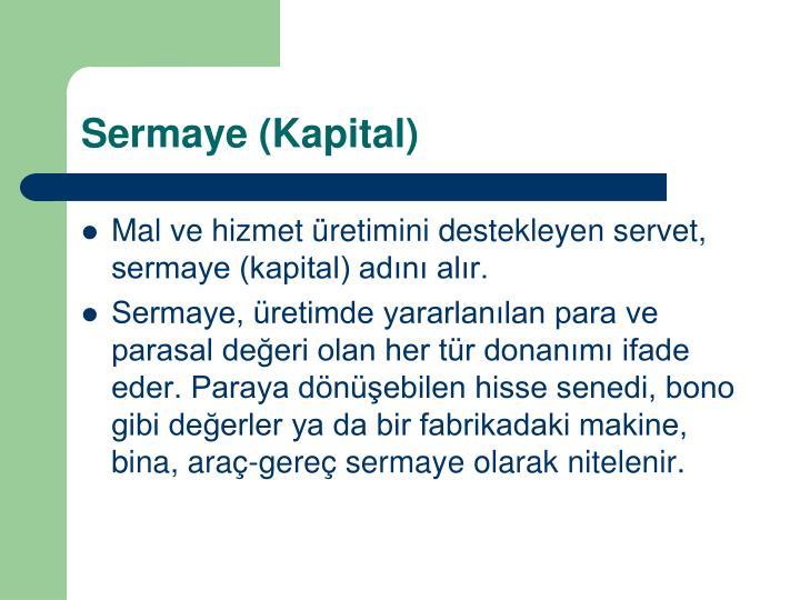 Sermaye (Kapital)