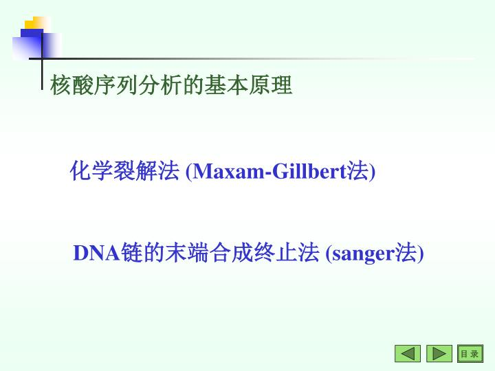 核酸序列分析的基本原理