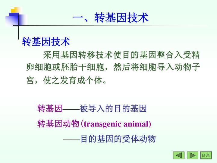 一、转基因技术