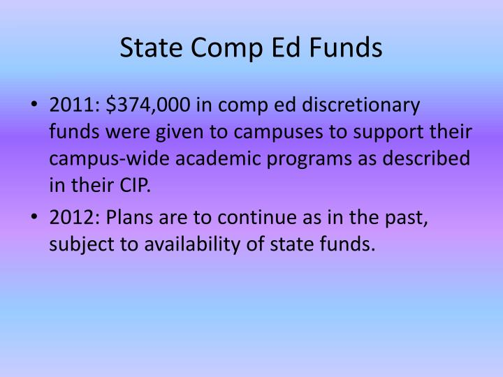 State Comp Ed Funds
