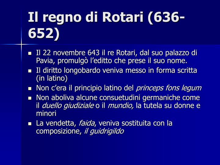Il regno di Rotari (636-652)