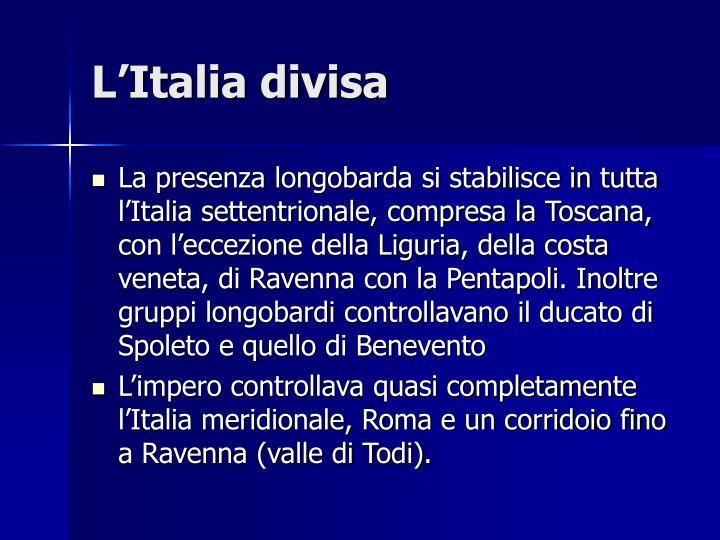 L'Italia divisa
