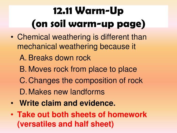 12.11 Warm-Up