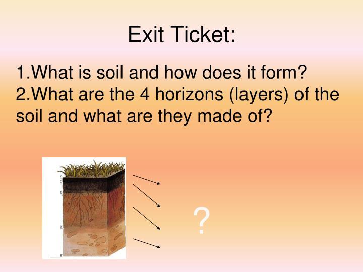 Exit Ticket: