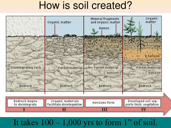How is soil created?