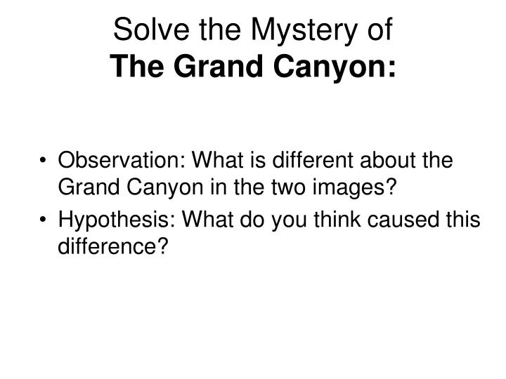 Solve the Mystery of