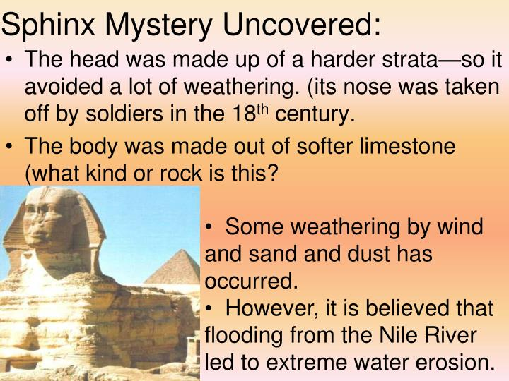 Sphinx Mystery Uncovered: