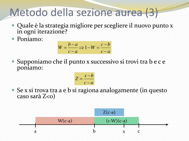 Metodo della sezione aurea (3)