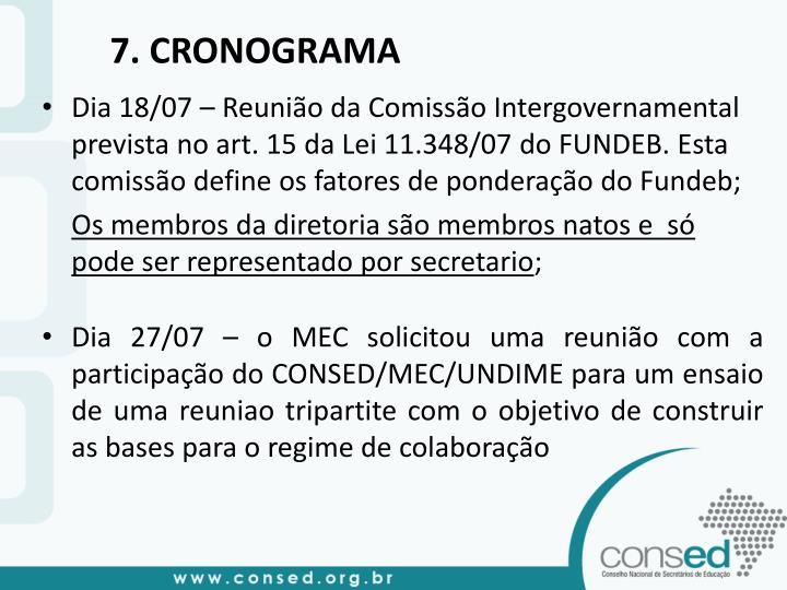 7. CRONOGRAMA