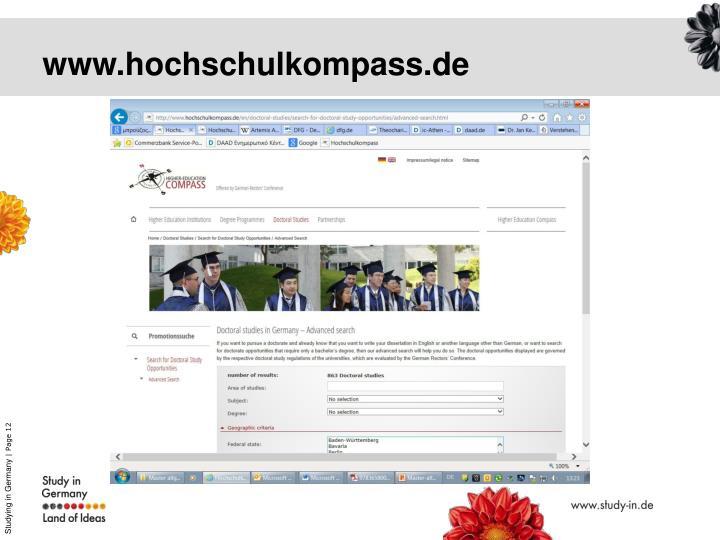 www.hochschulkompass.de
