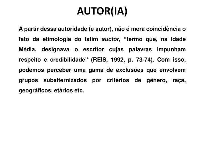 AUTOR(IA)