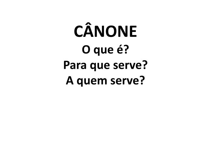 C none o que para que serve a quem serve