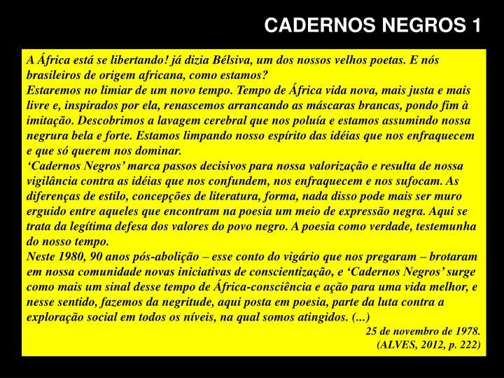 CADERNOS NEGROS 1
