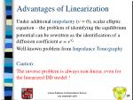 advantages of linearization1