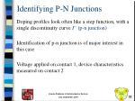 identifying p n junctions