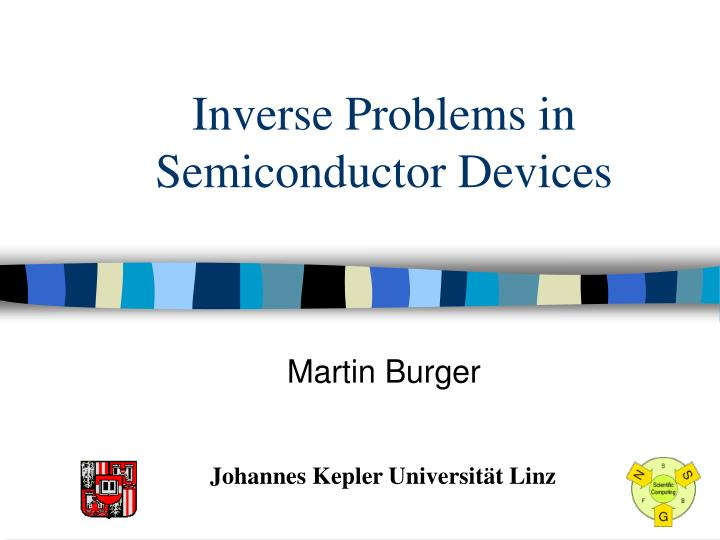Inverse Problems in Semiconductor Devices