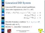 linearized dd system