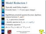 model reduction 1