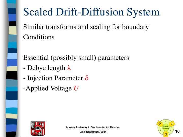 Scaled Drift-Diffusion System