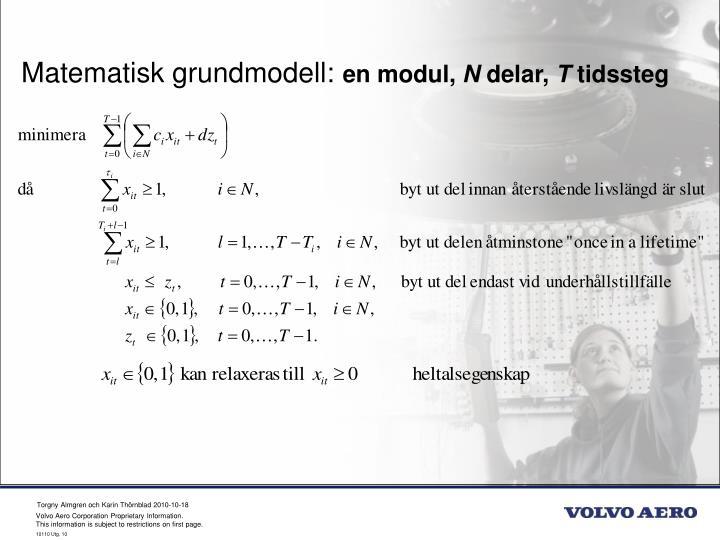 Matematisk grundmodell: