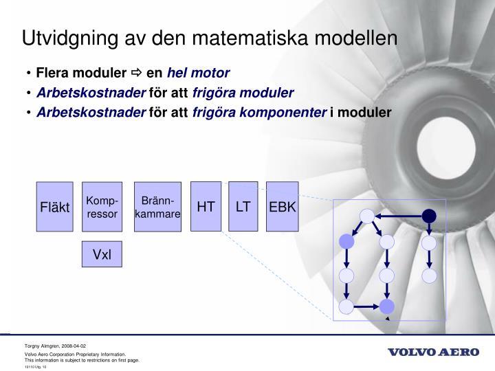 Utvidgning av den matematiska modellen