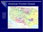american frontier closed