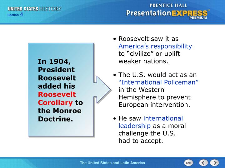 Roosevelt saw it as
