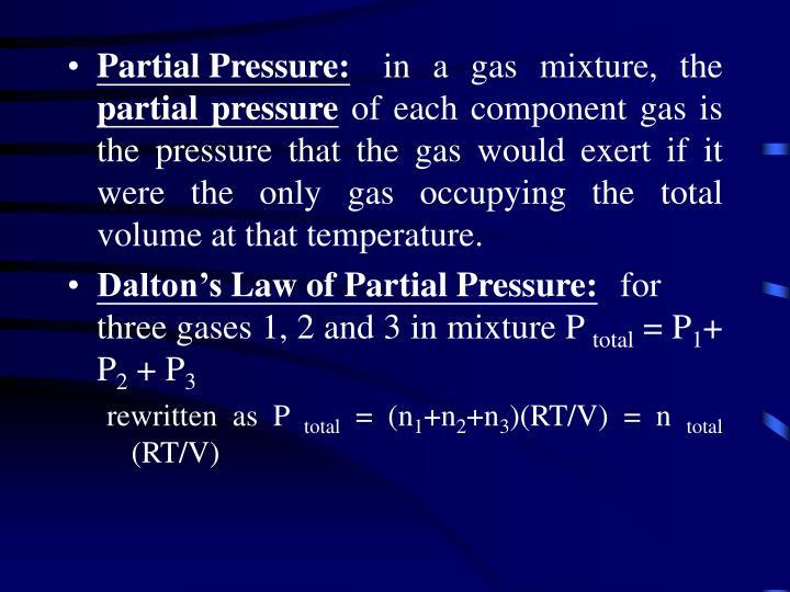Partial Pressure: