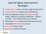 lean six sigma improvement strategies