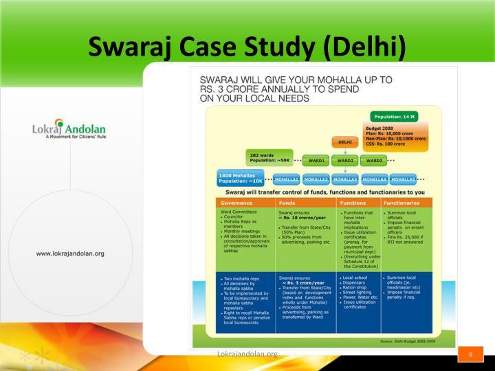 Swaraj Case Study (Delhi)