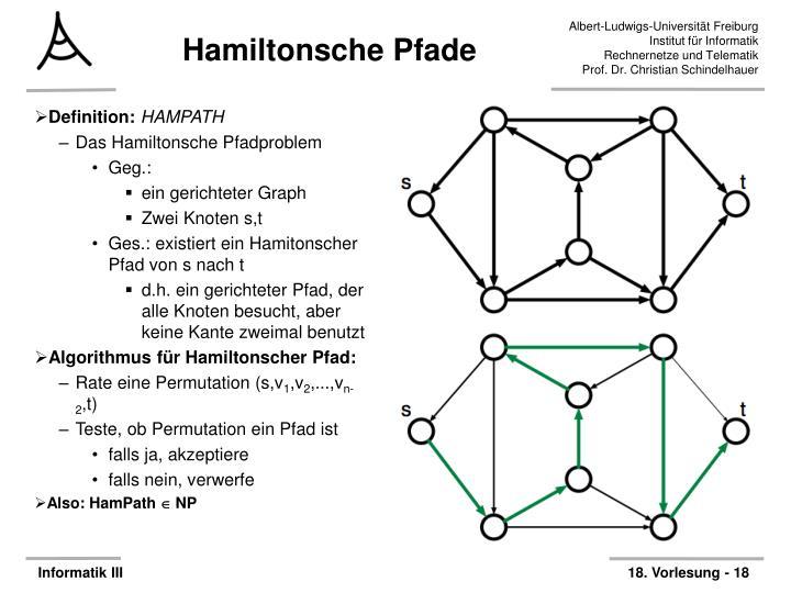 Hamiltonsche Pfade