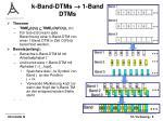 k band dtms 1 band dtms