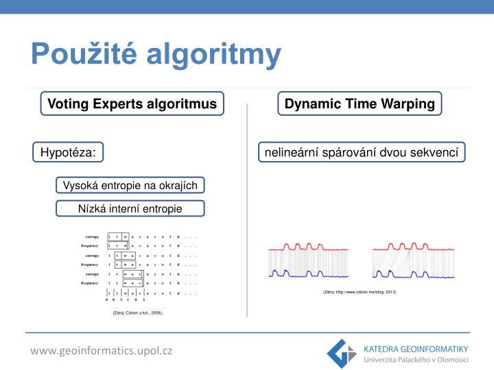 Použité algoritmy