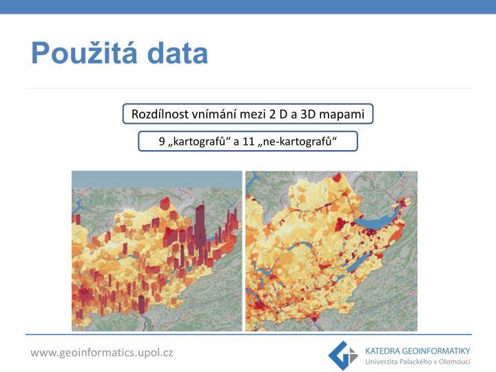 Použitá data