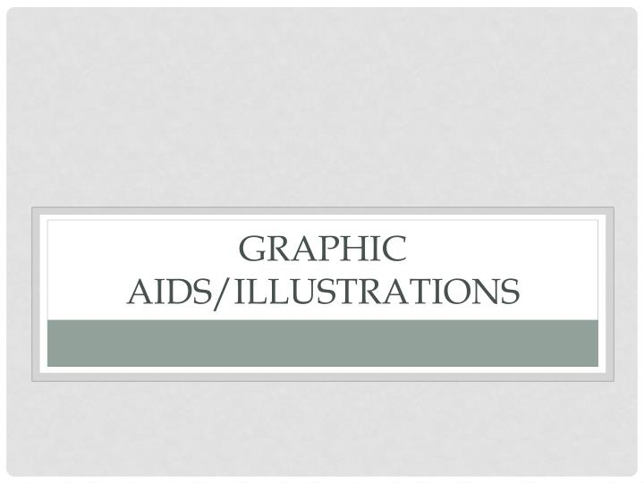 Graphic aids/illustrations