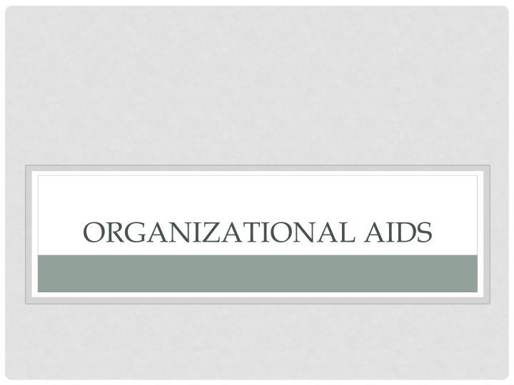 Organizational aids