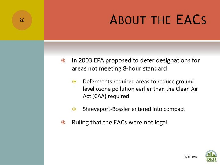 About the EACs