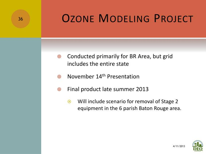 Ozone Modeling Project