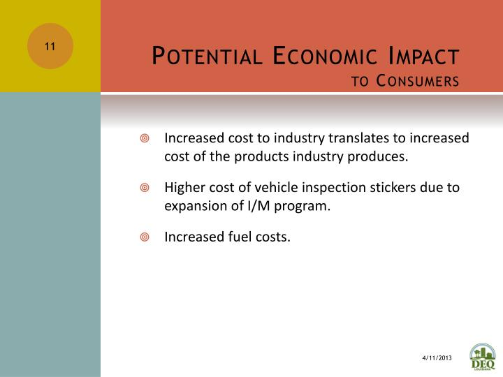 Potential Economic Impact