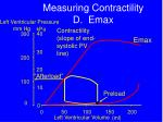 measuring contractility d emax