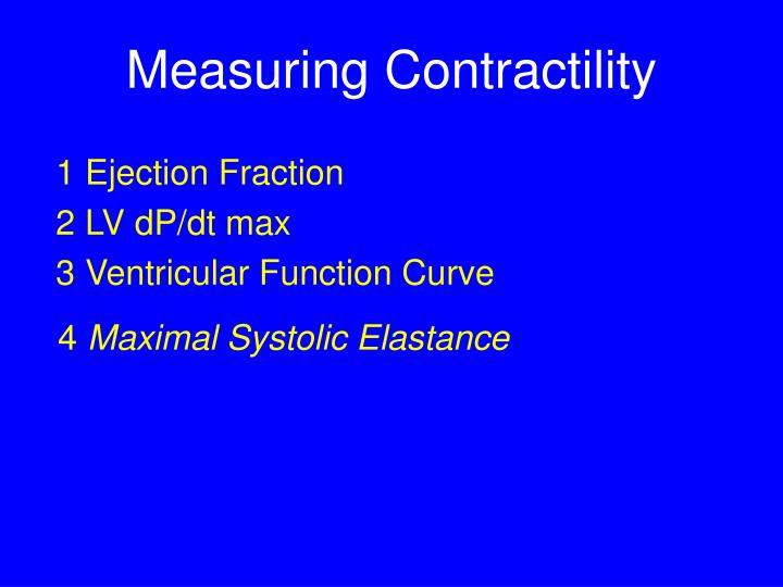 Measuring Contractility