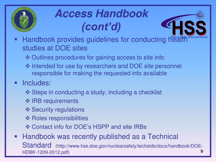 Access Handbook