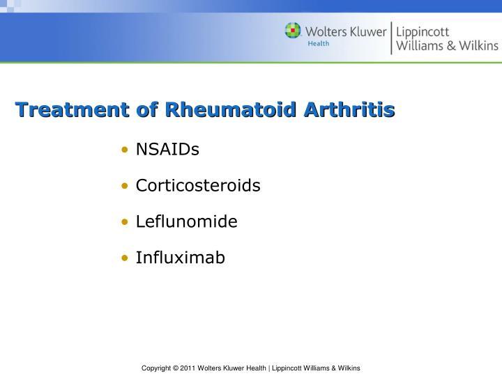 Treatment of Rheumatoid Arthritis