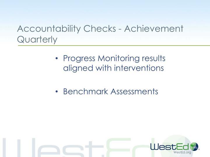 Accountability Checks - Achievement