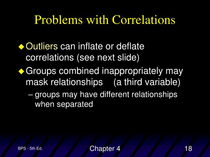 Problems with Correlations