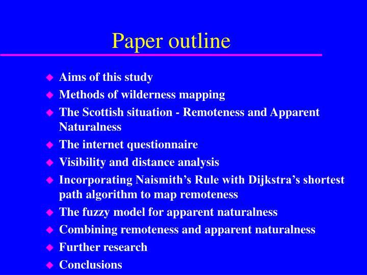 Paper outline