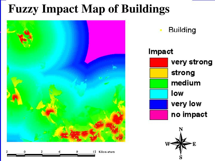 Fuzzy Impact Map of Buildings